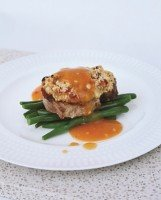 Crusted Pork Steak with Apricot Sauce