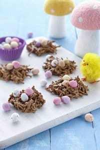 Crunchy Milk Chocolate Easter Egg Nests