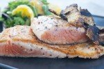 Barbecue Salmon with Orange and Fennel Salad