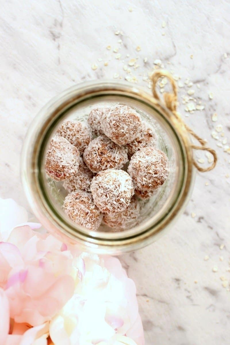 raspberry bliss balls